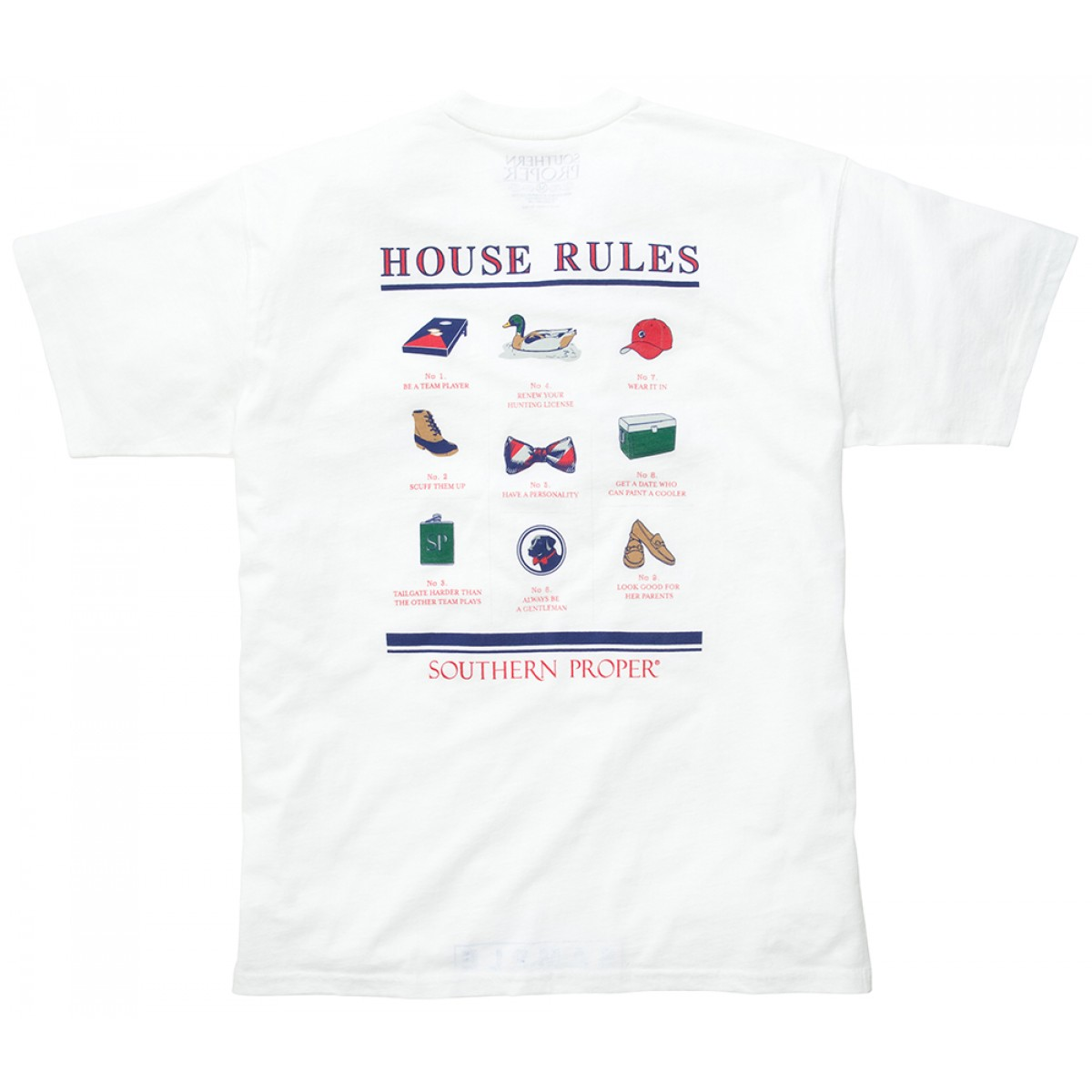 House Rules Tee - White